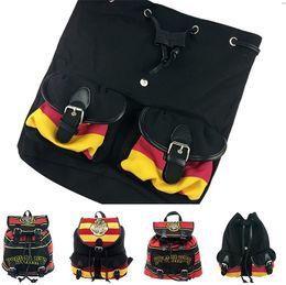 mochila mochila para crianças Desconto Harry Potter Mochilas Hogwarts Mochila Adolescente Mochilas Mochilas Escolares Listrado Caderno mochilas criança T5D006