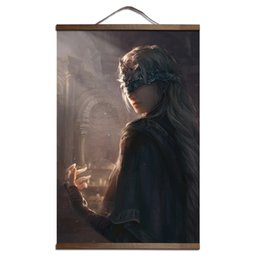 Wholesale Canvas Scrolls - Dark Souls 2 3 poster for HD canvas posters decoration painting with solid wood hanging scroll