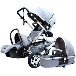 Wholesale Lightweight Prams Strollers - 2016 New Arrival 3 in 1 Luxury Baby Prams,3 1 Stroller Folding Lightweight,Baby Travel System Pushchair for Newborn Carriage