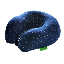 Wholesale U Shaped Airplane Pillow - U-shaped Pillow Airplane Travel Pillow Comfortable Cushion Memory Foam Neck Car Bedding Pillows