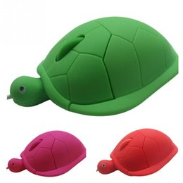 Wholesale Cute Mouse For Laptop - Hot Sale Ergonomic Designed Funny Shaped Silicone Cute Turtle Mice USB 2.0 1200dpi 3D Wired Optical Mouse For PC Laptop