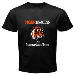 T-shirt TIGER COMBAT tigre fight thai muay kick maglietta maglia Uomo Man