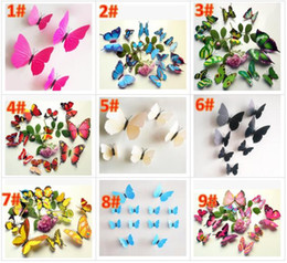 2019 пластиковые блоки замка для игрушек 3D бабочки стены стикеры 11 бесплатная DHL цвет бабочки декоры для дома Fridage украшения искусства DIY стикер украшения детские игрушки