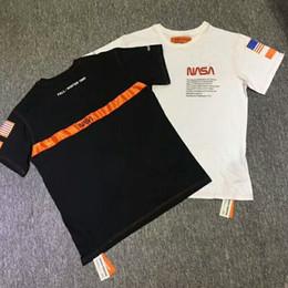 972a46f3c22f90b 2019 футболки с надписями 2018 Kanye West Heron Престон флаг США вышитые  письма печати мужчины с