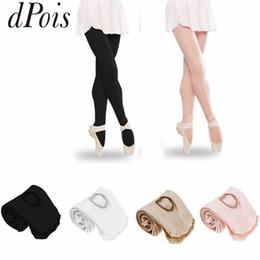 2019 leggings de pé preto DPOIS Meninas Mulheres Cor Sólida Profissional Ballet Dança Calças Justas Footed Vestido Leggings Meia-Calça Branco Nudez Preto Rosa Meias desconto leggings de pé preto