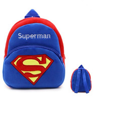 648578fe93 Hot Plush Superman Cartoon Kid School Backpack toy For Child Schoolbag For  Kindergarten Baby Mochila Infantil Student School kid Backpack.