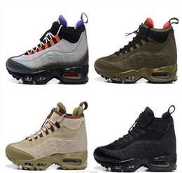 Wholesale Autumn Winter Boots - 2017 newest 95 Sneakerboot 20th Anniversary MID Shoe,,Army Boots Men's Autumn Winter ankle,Sealed-zip Training Retro Sneakers shoes