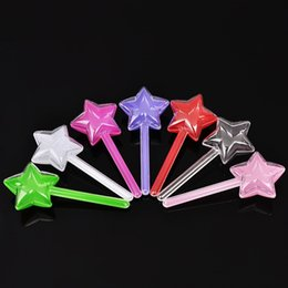 Wholesale Wedding Food Boxes - New Arrival Candy Box Plastic Five Pointed Star Stick Shape Sugar Organizer Durable Transparent Wedding Favor Boxes Hot Sale 0 88nt B