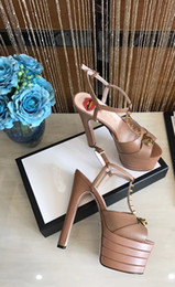 Wholesale sexy sandals high platform - 2018 summer spring newest women shoes genuine leather high heel sandals high quality brand design platform sandals woman sexy party shoes