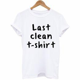 Inglês limpo on-line-Camisetas para mulheres atacado Última Limpo T-shirt Tendência Rua Inglês Manga Curta T Pity Personalidade Amantes