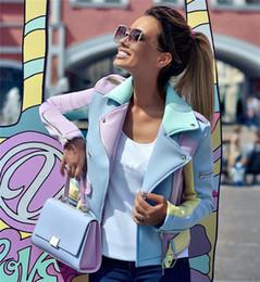veste d'épaulettes Promotion Tapakva Ladies Spell Color Basic Street Jacket Colour Block Manteaux Manches longues Manteau Outwear Manteau Fermeture Éclair