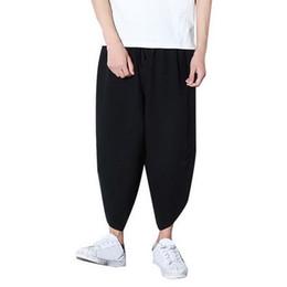 2018 Men s loose running pants Plus Size 3XL Men Harem Pants Hip Hop Wide  Leg Sport Trousers Streetwear Male Jogging 9bc23bbb643a