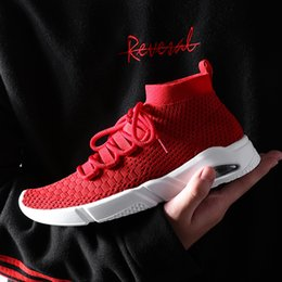 Wholesale fall knitting patterns - Good Quality Speed Shoes Fashion Breathable Air Cushion Athletic Socks Shoes Knit Pattern Mesh Lightweight Gym Casual Shoes