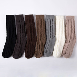 cable boots Coupons - New Fashion 1 Pair Women Girls Knitting Warm Cable Knit Over knee Long Boot Thigh-High Winter Soft Socks