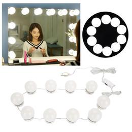 Canada Kit de 10 ampoules de miroir de maquillage vanité LED ampoules port USB de charge ampoule cosmétique réglable maquillage miroirs luminosité lumières Offre