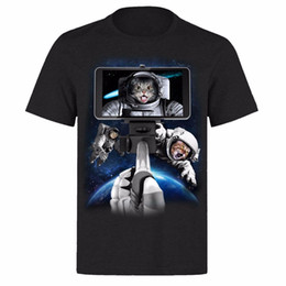 9d90fb63 galaxy cat t shirts Canada - SPACE CAT GALAXY SELFIE NASA EARTH FROM ABOVE  PH77 UNISEX