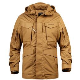 Veste m65 en Ligne-Marque M65 militaire Camouflage Homme Vêtements Armée Tactique coupe-vent pour hommes US Veste à capuche Champ Outwear Casaco Masculino Vente chaude
