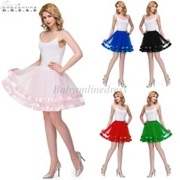 Wholesale Tulle For Sale Cheap - In Stock Short Wedding Bridal Petticoat Tulle Crinoline 2018 Hot Sale Underskirt For Girl Cheap Wedding Accessories Rockabilly Tutu CPA834