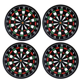 Tableros de dardos online-4pcs Dart Board Mat Mat Hit the Spot! 4pcs Round Bullseye Posavasos Dart Board Drink Bottle Beer Beverage Cup Mats