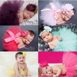 Wholesale Photographic Props - Kids Headband Chiffon Skirt For Photographic Props Hair Bands Set Like An Angel Dress Hair Accessories QZ001