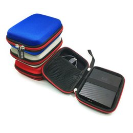Wholesale digital silk fabric - Portable Black Storage Bags Travel Pouch For Digital Accessory Data Cable, Power Bank Mini Carry Case Charger Organizer