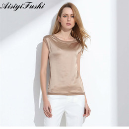 921559bd0a Women s Blouse 2018 Summer Shirts Casual OL Silk Women Blouse Shirt Sexy  White Red Tops Party Girls Loose Sleeveless Work Wear. Supplier  liangcloth