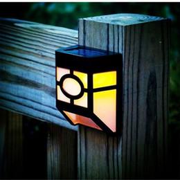 solarbetriebene led zaun licht lampe Rabatt 2er Pack Solar Wandlampe 2 LEDs Solarbetriebene LED Solarleuchte Wasserdichte Gartenleuchte für den Außenbereich Sicherheitsbeleuchtung Hofweg Zaunlampe