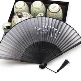 Gros-Bambou Chinois Japonais Tenu À La Main En Soie Pliant Asiatique Fans De Poche Gland Personnalisé Bambou Fan De Décoration De Mariage HG0216 ? partir de fabricateur
