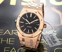 Wholesale iron folding - High-end aa luxury men automatic mechanical watch.Royal oak wrist watch, west iron city machine core changes 3120 machine core.Fine steel, s
