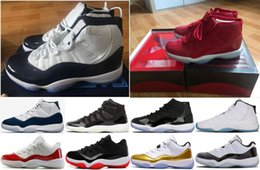 Wholesale clear product - New Products Men Basketball Shoes 11 UNC Chicago red Midnight Navy WIN LIKE 82 96 UNC Space Jam Sports Shoes with Box