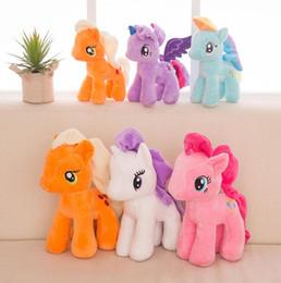 Wholesale rainbow pony - New Design Children's Dolls Gifts Plush Toys Dolls Burma Pony Rainbow Horse Dolls Nice Gift for Kids
