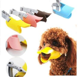 Wholesale Masks For Mouth - Dog Muzzle Silicone Cute Duck Mouth Mask Muzzle Bark Bite Stop Small Dog Anti-bite Masks For Dog Products Pets Accessories Top Quality