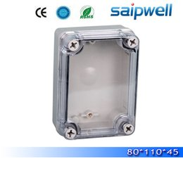 Wholesale Plastic Electrical - 2015 best hot sale ip65 waterproof electrical box with transparent cover 80*110*70mm High quality DS-AT-0811-S