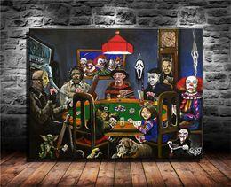 Horror Card Game, venerdì 13, 1 pezzi Stampe su tela Wall Art Oil Painting Home Decor (Senza cornice / Incorniciato) da