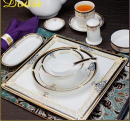 Piatti di stoviglie online-CreativeLuxury Dinnerware Round Fruit Plate Ceramic Dishes HomeHotel Stoviglie Piatti Stoviglie regalo