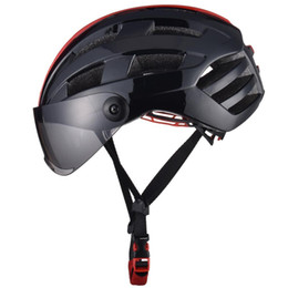 mirrors for bikes Promo Codes - Luminous Bicycle Helmet Bike Cycling Mirrow Finished Adjustable Unisex Safety with Visor Mirror Specially designed for mountain biking