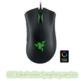 Wholesale Mouse Wires - Factory direct sell razer deathadder chroma symphony USB wired optical mouse gaming mouse computer game mouse with retail free shipping