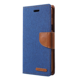 MERCURY GOOSPERY Custodia portafoglio per Samsung A6 2018 Canvas Custodia in pelle PU per Samsung Galaxy A6 (2018) Celular Capa da