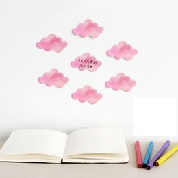 Wholesale sticky note book - cute kawaii pink cloud rainbow sticky note sticker wall book art decorative school office stationery memo pad