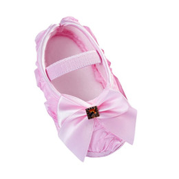 Wholesale Baby Girl Pre Walker Shoes - Baby Girl Shoes Todder Pre-walker Rose Flowers Bow Baby Soft Sole Shoes First Walkers