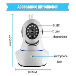 Wholesale Ip Board Camera - wholesale and retail New Double antenna Camera wireless IP camera WIFI Megapixel 720p HD indoor Wireless Digital Security CCTV IP Cam IR