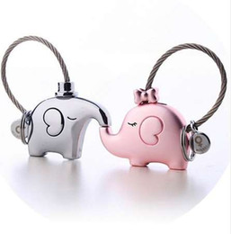 Milesi one pair of elephant couples keychain lovers key ring women s bag  charm gift Trinket pendant for car key chain k0180 88e9511bea
