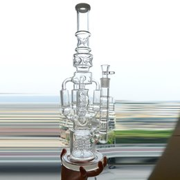 Deutschland Glasbecher Bong Ice Catcher 4 Rakete Honeycomb Perc 18''inch Dab Rigs Glas Wasserpfeifen zum Rauchen Herb Dicke 18mm Joint Bubbler cheap 18 inch hookah Versorgung