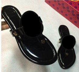 Wholesale Ladies High Quality Slippers - 2018 hot summer cool famous designer brand slippers ladies fashion leather high quality cool sandals flip-flops size 35 to 42