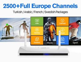 Wholesale Iptv Receiver Box Arabic Channels - IPTV Streaming Box with 1 years 2500 Europe Arabic IPTV Channels Package Leadcool Android Wifi 1G 8G Italy Portugal French IPTV Receiver