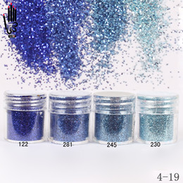 1 Jar / Boîte 10 ml Nail Fashion 4 Foncé Bleu Marine Nail Glitter Poudre Fine Pour Gel Art Décoration En Option 300 Couleurs 4-19 ? partir de fabricateur