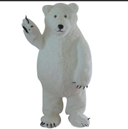 trajes de oso polar Rebajas 2018 Hot new Customized White Polar Bear traje de la mascota White Bear Mascot Custom