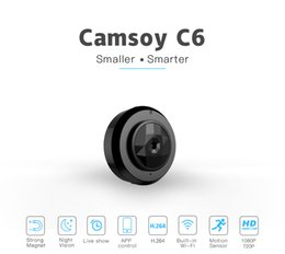 Wholesale Ip Video Recording - Hot selling Mini Camera C6 Multi-purpose Recording Video WiFi Wireless IP Control and Motion Detection HD 720P Resolution