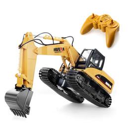 Voiture de canal de rc en Ligne-RC voiture télécommandée 2.4G 1/14 proportion rc excavatrice hydraulique 15 Channel Toys pour garçons VS jouets huina