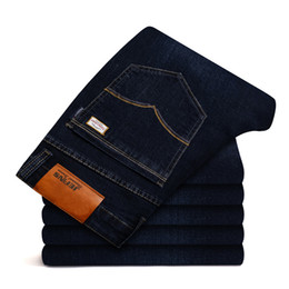 Talla 46 ropa online-Nueva Jantour Jeans de lujo para hombre Marca de moda - Ropa Hombre pantalones azules Hombre de franela de calidad pantalones casuales Jean tamaño grande 40 42 44 46